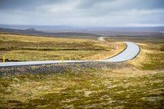 Wijąca droga w jesieni Iceland Obraz Stock