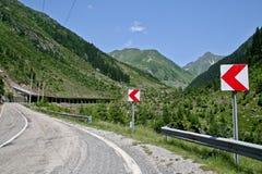 Wijąca droga w Rumunia Fotografia Royalty Free