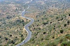 Wijąca halna droga z ptasim ` s oka widokiem Agadir, Morocc Obraz Stock