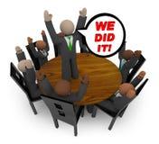 Wij deden het - de Vergadering van het Team van Zaken Stock Foto