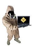 Wij hebben antivirus nodig! stock foto's