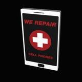 Wij herstellen mobiele telefoons Stock Fotografie