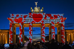 Wij houden van Berlijn Stock Afbeeldingen