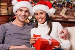 Wij houden van Kerstmis! Stock Foto