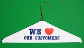 Wij houden van onze klanten Stock Foto's