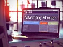 Wij huren Adverterende Manager in 3d Royalty-vrije Stock Afbeelding