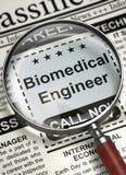 Wij huren Biomedische Ingenieur in 3d Royalty-vrije Stock Afbeeldingen