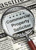 Wij huren Commercieel eigendomrechtskundig adviseur in 3d stock illustratie