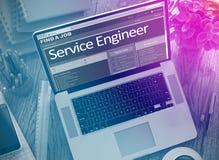 Wij huren de Dienstingenieur in 3d Royalty-vrije Stock Afbeeldingen