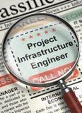 Wij huren de Ingenieur van de Projectinfrastructuur in 3d Royalty-vrije Stock Afbeelding