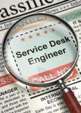 Wij huren de Ingenieur van het de Dienstbureau in 3d Stock Foto