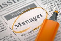 Wij huren Manager in 3d royalty-vrije illustratie