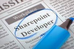 Wij huren Sharepoint-Ontwikkelaar 3d Stock Foto's