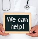 Wij kunnen helpen! Stock Afbeelding