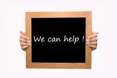 Wij kunnen helpen! royalty-vrije stock afbeelding