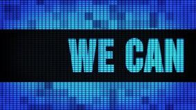 Wij kunnen u helpen Front Text Scrolling-LEIDEN Muurcomité de Raad van het Vertoningsteken stock footage