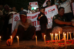 Wij niet Bange Campagne na de Ontploffing van Djakarta royalty-vrije stock fotografie