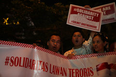 Wij niet Bange Campagne na de Ontploffing van Djakarta royalty-vrije stock afbeeldingen