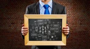 Wij onderwijzen u juiste zaken Gemengde media Stock Foto
