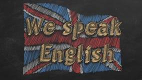 Wij spreken het Engels vector illustratie