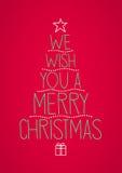 Wij wensen u vrolijke Kerstmis Stock Foto's