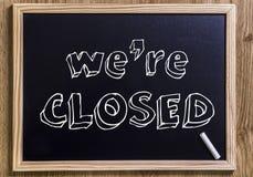 Wij zijn gesloten Royalty-vrije Stock Foto