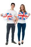Wij zijn trotse Britse verdedigers Stock Foto's