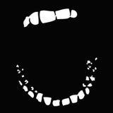 Wijd open mond (vector) Royalty-vrije Stock Foto's