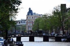 Wijde heisteeg bridge, Herengracht Canal, Amsterdam, Holland, Netherlands stock image