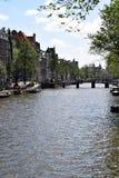 Wijde heisteeg most, Herengracht kanał, Amsterdam, Holandia, holandie obrazy stock