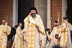 Wijdingceremonie van de Nationale Kathedraal van Romania's royalty-vrije stock fotografie