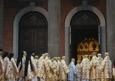 Wijdingceremonie van de Nationale Kathedraal van Romania's stock fotografie