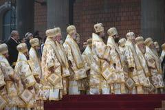 Wijdingceremonie van de Nationale Kathedraal van Romania's royalty-vrije stock afbeeldingen