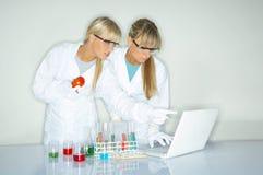 Wijfje in laboratorium Royalty-vrije Stock Foto