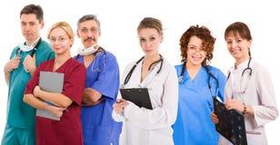Wijfje zes mannelijke artsen royalty-vrije stock afbeelding