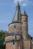 Wijk bij Duurstede城堡的塔  库存照片