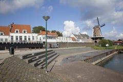 Wijk bij duurstede seen from the harbor Royalty Free Stock Photography
