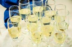Wijn bij restaurant Stock Fotografie