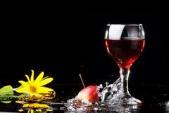 Wijn, bloem Royalty-vrije Stock Afbeeldingen