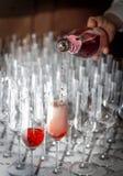 Wijn, champagne door het glas Royalty-vrije Stock Foto