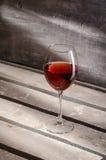 Wijn De glazen van de wijn Rode wijn Stock Afbeelding