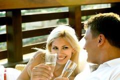 Wijn in de toevlucht royalty-vrije stock afbeeldingen