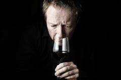 Wijn die 3 proeft Stock Foto's