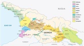 Wijn die gebieden van de kaart van Georgië produceren royalty-vrije illustratie