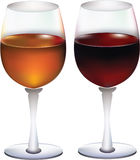 Wijn door het glas. Stock Foto's