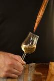 Wijn in een glas Stock Foto