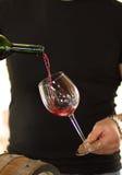 Wijn in een glas Royalty-vrije Stock Foto