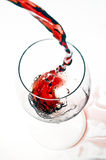 Wijn in elegantie Stock Foto
