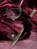 Wijn en bajonet royalty-vrije stock foto