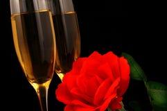 Wijn en Bloemen royalty-vrije stock fotografie